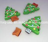 Azionamento dell'istantaneo del USB di figura dell'albero di Natale (HXQ-G006)