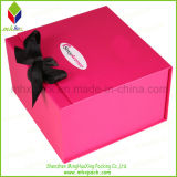 Ribbon를 가진 선전용 Paper Packaging Rigid Folding Box