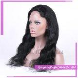 Parrucche piene indiane della parte anteriore del merletto dei capelli umani della donna