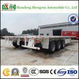 Shengrun 3 Assen 40 die van Flatbed Voet Aanhangwagen van de Vrachtwagen in China wordt gemaakt