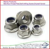 Noix DIN6923 de bride de tête Hex d'acier du carbone de qualité faite à partir de Handan