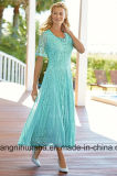 Matriz Chiffon de V-Nevk das mulheres do vestido do baile de finalistas do partido de noite da noiva
