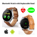 Montre intelligente de Bluetooth avec la bande de montre colorée remplaçable (K88H)