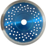 Semelle de scie à diamant Segment Turbo avec bride et trous silencieux (JL-TDBFS)