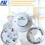 360 de volledige Detector van de Rook van het Brandalarm van de Visie Optische 24V Conventionele