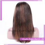 Pelucas brasileñas del cordón del pelo humano de la Virgen de Glueless de la densidad del 130%