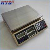 Escala industrial del peso de la batería recargable (30kg/0.1g)