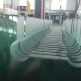 vidro Tempered da borda Polished desobstruída de 12mm para a porta do banheiro
