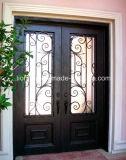 簡単なホームによって使用される錬鉄のドアのEyebrownの上の機密保護のドア