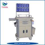 Hospital y carro médico de la emergencia de la anestesia de los productos