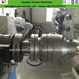 Chaîne de production de pipe d'évacuation de l'eau de PVC avec la boudineuse à vis jumelle