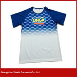 新しいデザイン人(R154)のための100%年のポリエステル明白なスポーツVの首のTシャツ