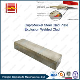 CuNi 9010 Cupronickel Tubesheet di piastra metallica placcato d'acciaio