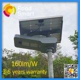 lâmpada ao ar livre psta solar do jardim da rua 15W-60W com sensor de movimento