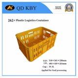 Paniers élevés de caisses en plastique de logistique de rotation d'utilisation d'usine de nourriture