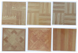 Modelo de madera durable del azulejo de suelo del vinilo del PVC del tecleo 15-006