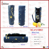 Patterned標準的なPU Leather Wine Carrier (5728R2)