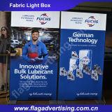 Le tissu de polyester de sublimation de teinture annonçant le cadre d'éclairage LED, manifestent le cadre léger