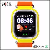 Do perseguidor quente do GPS da tela de toque de 2017 relógio esperto Q90 IPS do telefone móvel do relógio de Bluetooth dos miúdos para crianças