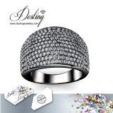 De Kristallen van de Juwelen van het lot van de Ring van het Metaal van de Aantrekkingskracht van de Ring Swarovski