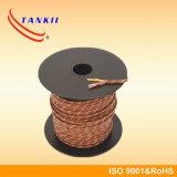 Type de câble de thermocouple de 20 A.W.G.K isolé par le teflon/fibre de verre/silicones/PVC