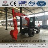 Excavadores rojos de la rueda de la maquinaria de Baoding pequeños con el SGS