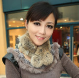 Signora Fashion Rabbit Fur Scarf (YKY4360)