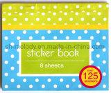 Livro decorativo da etiqueta do papel dos desenhos animados para crianças