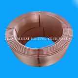 Tubo llano llano del cobre de la bobina de la herida para el aire acondicionado