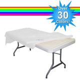 A tampa de tabela cheia cheia de anúncio perfeita do poliéster da feira profissional carateriza o Tablecloth