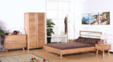 سرير صلبة خشبيّة [دووبل بد] حديثة ([م-إكس2243])