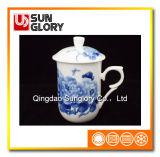 Чашка Китая косточки с крышкой GB023