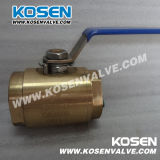2PC Type Forged Bronze Ball Valve (Thread ed interruttore Estremità)