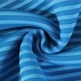 Capa del aire de la raya de la tela del Knit de la deformación