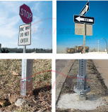 Sale를 위한 관통되는 Steel Square Sign Posts