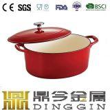 鍋を調理する焦げ付き防止の小型エナメルの鋳鉄のための2017よい販売
