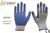 Перчатка работы безопасности Резать-Сопротивления нитрила Hppe покрытая (H2101)