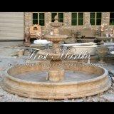 Fuente de agua de piedra de mármol del jardín Mf-833