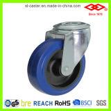 80mm blaues elastisches industrielles Fußrollen-Gummirad (P102-23D080X32S)