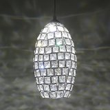 El cristal moderno rebordea la lámpara pendiente (WHP-980)