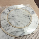 Mattonelle di mosaico Waterjet bianche a forma di di Carrara dello specchio popolare di vendita