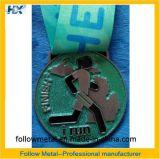 Подгонянное медаль сувенира для отделки бега, цвета яркия блеска, напечатанной тесемки