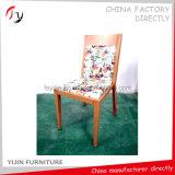 Cadeira de imitação de madeira do ferro do restaurante da parte traseira confortável do meio (FC-160)