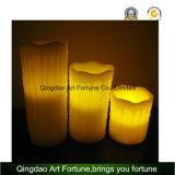 Flameless LED蝋燭白いカラーおよび点滴注入の終わり