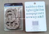 El alfabeto adhesivo del brillo/el brillo cortado con tintas pone letras al adorno decorativo del libro de recuerdos