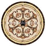 組合せカラー(モザイク116)の大理石のWater-Jet円形浮彫りのタイル