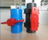 스레드된 PVC 플라스틱 F/M는 골라낸다 조합 공 벨브 (FQ65012)를