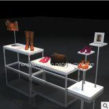 Soporte de visualización blanco de color para el departamento de zapatos, góndola