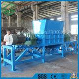 Double défibreur durable d'arbres pour la réutilisation de rebut de pneu/caoutchouc/cuisine/déchets municipaux/mousse/os/plastique animaux