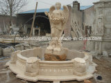 自然な石造りのStatue Marble庭の女性水噴水(SY-F108)